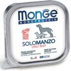 Корм Monge Dog Monoprotein Solo консервы для собак паштет из говядины, 150 г