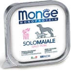 Корм Monge Dog Monoprotein Solo консервы для собак паштет из свинины, 150 г