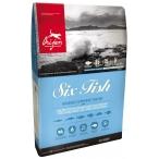 Корм Orijen SIX FISH (беззерновой) для собак всех пород, 2 кг