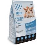 Корм Blitz Adult Chicken & Rice для собак всех пород с курицей и рисом, 10 кг