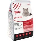 Корм Blitz For Adult Cats Chicken для взрослых кошек курица, 400 г