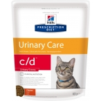 Корм Hill's Prescription Diet c/d Urinary Stress для кошек для мочевыводящих путей и при стрессе одновременно курица 3148, 400 г