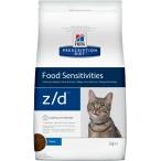Корм Hill's Prescription Diet z/d Food Sensitivities для кошек диета для поддержания здоровья кожи и при пищевой аллергии, 2 кг