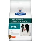 Корм Hill's Prescription Diet w/d Digestive/Weight Management для собак для оптимального веса и здоровья при сахарном диабете с курицей, 12 кг