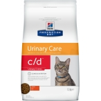 Корм Hill's Prescription Diet c/d Urinary Stress для кошек для мочевыводящих путей и при стрессе одновременно с курицей, 1.5 кг