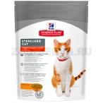 Корм Hill's Science Plan Sterilised Cat для стерилизованных кошек от 6 мес. до 6 лет, курица 9338, 300 г