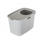 Moderna Закрытый туалет для кошек Top cat, белый с теплым серым, 59x39x38 см, 100 г