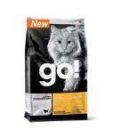 Корм Go! Sensitivity & Shine Grain Free Duck беззерновой для кошек с чувствительным пищеварением с уткой, 1.82 кг