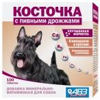 Косточка АВЗ (Агроветзащита) для собак, минерально-витаминная кормовая добавка с пивными дрожжами, 100 таб.