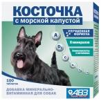Косточка АВЗ (Агроветзащита) для собак, минерально-витаминная кормовая добавка с морской капустой, 100 таб.