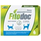 Fitodoc АВЗ (Агроветзащита) капли для собак и кошек малых пород, дермотологические, 4 пипетки по 0.6 мл