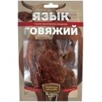 Лакомство Деревенские лакомства язык говяжий для собак, 50 г