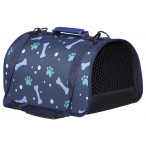 "Tappi сумка-переноска ""Ландау"" для животных, кофр жесткий, рисунок косточки, 43х25х24 см"