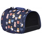 "Tappi сумка-переноска ""Отуар"" для животных, кофр жесткий, рисунок кошки, 43х25х24 см"