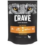Корм Crave сухой корм для взрослых собак всех пород, с курицей и индейкой, 7 кг