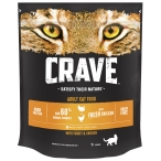 Корм Crave сухой корм для кошек, с курицей и индейкой, 750 г