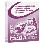 CEVA Севавит витаминно-минеральная кормовая добавка для кошек, с биотином и таурином, 60 таб.