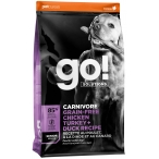 Корм Go! CARNIVOREGrain-Free Chicken, Turkey & Duck Senior для собак старше 7 лет, беззерновой, 4 вида мяса: индейка, курица, лосось, утка, 1.59 кг