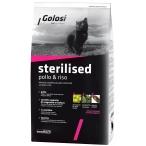 Корм Golosi Sterilised Pollo & Riso для стерилизованных и привередливых к еде кошек, с курицей и рисом, 1,5 кг