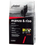 Корм Golosi Manzo & Riso Adult для кошек, с говядиной и рисом, 400 г