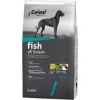 Корм Golosi Fish All Breeds для собак всех пород, с рыбой и рисом, 12 кг