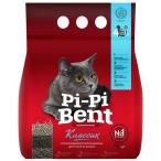 Наполнитель Pi-Pi-Bent Классик для кошек, комкующийся, 7 л, 3 кг