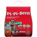 Наполнитель Pi-Pi-Bent Классик для котят, комкующийся, 12 л, 5 кг