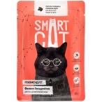 Корм Smart Cat для кошек и котят кусочки говядины в соусе, 85 г