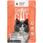 Корм Smart Cat для кошек и котят кусочки индейки в соусе, 85 г