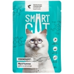 Корм Smart Cat для кошек и котят кусочки лосося в соусе, 85 г