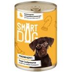 Корм Smart Dog консервы для собак и щенков всех пород, кусочки курочки с потрошками в соусе, 850 г