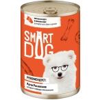 Корм Smart Dog консервы для собак и щенков всех пород, кусочки мясное ассорти в соусе, 850 г