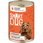 Корм Smart Dog консервы для собак и щенков всех пород, кусочки индейки в соусе, 400 г