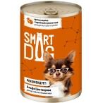 Корм Smart Dog консервы для собак и щенков всех пород, кусочки индейки с перепелкой в соусе, 240 г