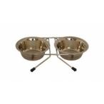 Papillon Две миски на подставке, 13см, 2 х 0,35л (Double dinner wire frame including bowls) 175404, 0,8 кг