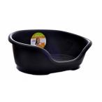 Moderna Лежак domus пластиковый 70см, 81х54х24 черный, 1,5 кг