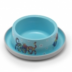 Moderna Нескользящая миска с защитой от муравьев Trendy - Друзья навсегда, голубая, 350 мл, 0,091 кг