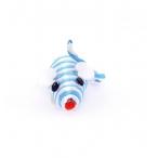 """Papillon Игрушка для кошек """"Полосатый мышонок"""", сизаль, 5см (Mouse blue/white) 240037, 0,01 кг"""