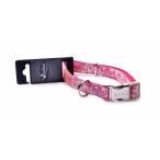Papillon Нейлоновый ошейник с рисунком 15мм-26-40см, розовый (Adjustable nylon collar, 15 mm x 26 - 40 cm, Hula Hula, colour pink) 170256, 0,04 кг