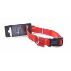 Papillon Ошейник, искусственная кожа 10мм-20-33см, красный (Adjustable collar, 10 mm x 20 - 33 cm, Mac Leather, colour red) 170289, 0,02 кг