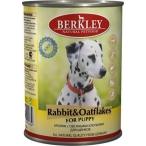 Корм Berkley Консервы для щенков с кроликом и овсянкой (Puppy Rabbit&Oatflakes), 400 г