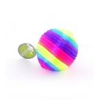 """Papillon Игрушка """"Радужный мячик"""" с погремушкой, текстиль 3,5см (Rainbow ball) 240036, 0,01 кг"""