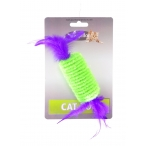 "Papillon Игрушка для кошек ""Рулет с перьями"" 10см (Roller with rattle and feather 10 cm on card) 240049, 0,019 кг"