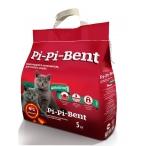"""Pi-Pi-Bent Комкующийся наполнитель """"Классик"""" для котят (пакет), 5 кг"""