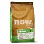 Корм Now Fresh Беззерновой для Котят с Индейкой, Уткой и овощами (Fresh Grain Free Kitten Recipe 33/20), 1.82 кг