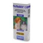 """АВЗ (Агроветзащита) """"Альбен С От глистов для собак и кошек, 3таб. АВ16, 10 г"""