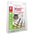 Ms.Kiss Капли репеллентные для крупных кошек весом более 2 кг, 3 шт по 2,5 мл МК05-00360, 0,007 кг