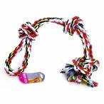 """Papillon Игрушка для собак """"Веревка Двойная с 3 узлами"""", хлопок, 60см (Cotton flossy toy double 3 knots) 140748, 0,6 кг"""