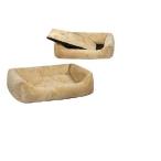 Yami-Yami Лежак прямоуг.пухлый 87*64*24см с подушкой (9803)бежевый, 1,86 кг