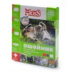 Ms.Kiss Ошейник от блох, клещей, комаров (защита-3мес.) для котят с 4недель и кошек, 38см, зеленый MK05-00180, 0,05 кг